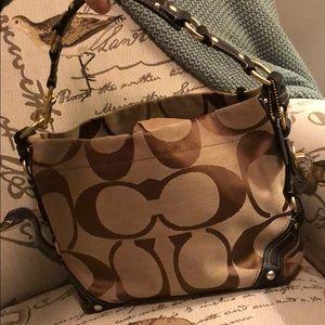 Coach Carly signature C hobo handbag / purse